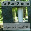 Ontario Granite and Carrara marble Abstract Contemporary or Modern Outdoor Outside Exterior Garden / Yard sculpture statuary sculpture by sculptor Jon Barlow Hudson titled: 'Tsung Tube XXVI: Organic Solidarity I (Carved stone and Steel abstract)' - Artwork View 1