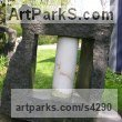 Ontario Granite and Carrara marble Abstract Contemporary Modern Outdoor Outside Garden / Yard sculpture statuary sculpture by sculptor Jon Barlow Hudson titled: 'Tsung Tube XXVI: Organic Solidarity I (Carved stone and Steel abstract)' - Artwork View 2