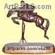 Bronze Awards, Trophies, Presentations and Prizes sculpture by sculptor José Miguel Franco de Sousa titled: 'Jumping (Little show Horse statuettes)'