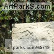 Hand carved Yorkstone Garden Or Yard / Outside and Outdoor sculpture by sculptor Joseph Hayton titled: 'Green Man oak (Carved York stone Face sculpture Plaques)' - Artwork View 4