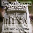 Granito, previo modelado y vaciado Heraldic Crests Logos Trade Marks Carvings or Castings sculpture by sculptor Juan Cabeza Quiles titled: 'escudos La Chatonniere (Heraldic Carved Stones)' - Artwork View 4
