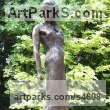 Bronze Resin and Marble Resin Garden Or Yard / Outside and Outdoor sculpture by sculptor Judy Ann Cropper titled: 'Catwalk (bronze resin Model Girl garden/Yard sculpture/statuary/statue)' - Artwork View 1