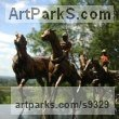 Bronze Horse and Rider / Jockey Sculpture / Equestrian sculpture by Judy Boyt titled: 'The Royal Procession'