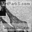 Simple Mesh Wild Animals and Wild Life sculpture by Kakhi Eradze titled: 'Giraffi (Small/Little Chicken Wire Mesh Giraffe Standing statue/statue)'