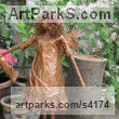 Recycled material sculpture by sculptor Karen Williams titled: 'Calista tall standing faerie'