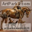 Bronze Horse and Rider / Jockey Sculpture / Equestrian sculpture by Kathleen Friedenberg titled: 'Opening Meet (Huntsman and Hounds statuette)'