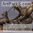 Bronze Dogs sculpture by sculptor Kathleen Friedenberg titled: 'Mine (Little Dogs Playing Frisking statuette)' - Artwork View 5