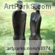 Bronze Resin Couples or Group sculpture by Kay Singla titled: 'Happy Together (Contemporary abstract Couple Yard statue)'