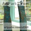 Bronze resin Figurative Abstract Modern or Contemporary sculpture statuary statuettes figurines sculpture by sculptor Kay Singla titled: 'Made for Each other'