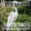 Aluminium Tube and Sheeting African Animal and Wildlife sculpture by Kenneth Potts titled: 'Egret on Alert (Standing Water Bird statue/sculpture/statuette)'