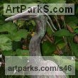 Bronze Wild Bird sculpture by Kenneth Potts titled: 'Heron (Bronze Little Heron Pond sculptures/statues)'