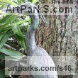 Bronze Garden Or Yard / Outside and Outdoor sculpture by sculptor Kenneth Potts titled: 'Heron (Bronze small or Little Heron Pond/Waterside sculptures/statues)' - Artwork View 2