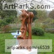 Bur elm Abstract Contemporary Modern Outdoor Outside Garden / Yard sculpture statuary sculpture by sculptor Ket Brown titled: 'Complicity' - Artwork View 5