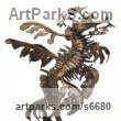 Bronze Aquatic Sculptures Fish / Shells / Sharks / Seals / Corals / Seaweed sculpture by Kirk McGuire titled: 'Leafy (bronze leafy sea dragon Tabletop statue statuettes figurine)'