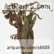 Bronze Abstract Fish sculpture by Kirk McGuire titled: 'Leafy sea dragon sculpture'