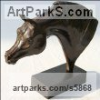 Bronze Animal Birds Fish Busts or Heads or Masks or Trophies For Sale or Commission sculpture by sculptor Laurence Saunois titled: 'Arabian Horse (Small Bronze Horse Head Bust commission sculptures)'