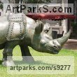 Bronze Public Park or Urban Landscape or Corporate sculpture / Fountain / Sratuary sculpture by Li-Jen SHIH titled: 'Run to Victory (Lige Size Asian Rhino sculpture statue)'