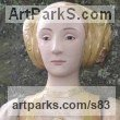 Stoneware, glazed & gilded Commission and Custom and Bespoke sculpture sculpture by sculptor Lida Baas titled: 'Anne of Cleves'