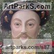 Stoneware, glazed & gilded Historical Character Statues / sculpture by sculptor Lida Baas titled: 'Henry VIII'