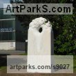 Marble sculpture Abstract Contemporary or Modern Large Public Art sculpture Statues statuary sculpture by Liliya Pobornikova titled: 'Morning dew 2 (abstract marble garden sculpture)'