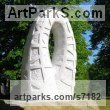 Marble sculpture Garden Or Yard / Outside and Outdoor sculpture by sculptor Liliya Pobornikova titled: 'Rainbow (marble abstract Arch Carving garden Outdoor sculpture)' - Artwork View 3