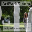 Marble sculpture Garden Or Yard / Outside and Outdoor sculpture by sculptor Liliya Pobornikova titled: 'Reflecting Sun (Big Pillar/Column abstract Contemporary Outside statue)' - Artwork View 3