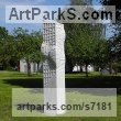Marble sculpture Garden Or Yard / Outside and Outdoor sculpture by sculptor Liliya Pobornikova titled: 'Reflecting Sun (Big Pillar/Column abstract Contemporary Outside statue)' - Artwork View 5
