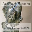 Bronze, stone Sign of the Zodiac sculpture by Liubka Kirilova titled: 'Fish (Little Contemporary Happy Singing Fish statue)'