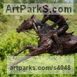 Bronze Horse Sculpture / Equines Race Horses Pack HorseCart Horses Plough Horsess sculpture by sculptor Lorne Mckean titled: 'Adolfo Cambiaso on Aiken Cura (Champion Polo sculptures/statues/bronze)'