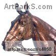 Bronze Polo Pony and Pony sculpture / statue / statuette / figurine / ornament Portraits Commissions Memorials sculpture by sculptor Lorne Mckean titled: 'Polo Pony Portrait/Trophy (bronze Head sculptures)'