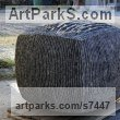 Limestone belgium petit granit Abstract Contemporary Modern Outdoor Outside Garden / Yard sculpture statuary sculpture by sculptor Lotte Thuenker titled: 'Black Cube (abstract Contemporary Rectangular Square stone statue)' - Artwork View 1