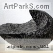 Limestone belgium petit granit Modern Abstract Contemporary Avant Garde Sculptures or Statues or statuettes or statuary sculpture by sculptor Lotte Thuenker titled: 'Maison Noir - Black House (abstract Contemporary Small sculpturette)' - Artwork View 2