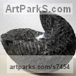 Limestone belgium petit granit Modern Abstract Contemporary Avant Garde Sculptures or Statues or statuettes or statuary sculpture by sculptor Lotte Thuenker titled: 'Maison Noir - Black House (abstract Contemporary Small sculpturette)' - Artwork View 5
