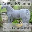 Recycled metal wire Pet and Animal Portrait Custom or Bespoke or Commission Commemorative or Memoriaql sculpture sculpture by sculptor Lucia Corrigan titled: 'Horse (Metal Wire Netting Standing Big life size sculpture)'