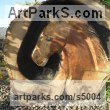 Ash wood Animals in General sculpture sculpture by sculptor Luke Boam titled: 'Wild Horse'