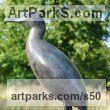 Bronze Varietal Mix of Bird Sculptures or sculpture by sculptor Lynda Hukins titled: 'The Vigil (Contemporary abstract Minimalist Sea Bird Cormorant statue)' - Artwork View 2