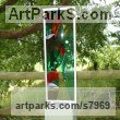 Glass, steel & oak. Abstract Contemporary Modern Outdoor Outside Garden / Yard sculpture statuary sculpture by sculptor Lynette Forrester titled: 'Summer Breeze (framed fused and laminated glass panel)' - Artwork View 5