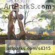 "bronze/granite Sculpture of Children by Margot McMahon titled: ""Peace and Justice (bronze Children Playing with Ball Symbolic statues)"""