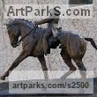 "bronze Horse and Rider / Jockey Sculpture / Equestrian sculpture by Marie Ackers titled: ""Extended Trot I (abstract Equestrian bronze Dressage statuette/statue)"""