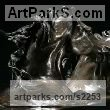 "bronze resin Horses Small, for Indoors and Inside Display statue statuettes sculpture figurines commissions commemoratives by Marie Ackers titled: ""Fighting Stallions (Cold Cast bronze resin Horses sculptures/statuette)"""