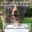Bronze Animal Birds Fish Busts or Heads or Masks or Trophies For Sale or Commission sculpture by sculptor Marie Ackers titled: 'Kiki (bronze Dog Portrait Head/Bust Commissions, statues/sculptures)'
