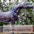 Bronze Horses Small, for Indoors and Inside Display sculpturettes Sculptures figurines commissions commemoratives sculpture by sculptor Marie Ackers titled: 'Prince of the Desert (Little Arab Horse Standing sculpture/statuette)'
