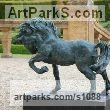 Cold Cast resin Bronze ( also available in bronze) Horse Sculpture / Equines Race Horses Pack HorseCart Horses Plough Horsess sculpture by sculptor Marie Ackers titled: 'Spirit (Little Bronze Stallion Pacing and Pawing, statuette/statue)' - Artwork View 1