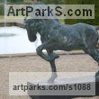 Cold Cast resin Bronze ( also available in bronze) Horse Sculpture / Equines Race Horses Pack HorseCart Horses Plough Horsess sculpture by sculptor Marie Ackers titled: 'Spirit (Little Bronze Stallion Pacing and Pawing, statuette/statue)' - Artwork View 4
