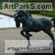 Cold Cast resin Bronze ( also available in bronze) Horse Sculpture / Equines Race Horses Pack HorseCart Horses Plough Horsess sculpture by sculptor Marie Ackers titled: 'Spirit (Little Bronze Stallion Pacing and Pawing, statuette/statue)' - Artwork View 5