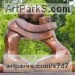 Bronze Garden Or Yard / Outside and Outdoor sculpture by sculptor Mark Yale Harris titled: 'Crush (bronze abstract Lovers Outdoors statues)' - Artwork View 1