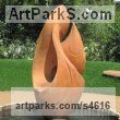 Oak Wood Garden Or Yard / Outside and Outdoor sculpture by sculptor Martin Pigg titled: 'Koru (New Beginnings Large abstract Wood sculptures)' - Artwork View 2