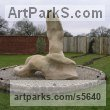 Sand Stone Abstract Contemporary or Modern Large Public Art sculpture statuary sculpture by sculptor Martyn Bednarczuk titled: 'The Awakening (Carved stone Modern abstract Contemporary garden statue)'