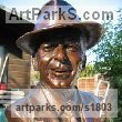 Bronze Famous People sculpture sculpture by sculptor Mary Quinn titled: 'Frank Sinatra (Bronze Bust Portrait Head Face sculpture)' - Artwork View 2