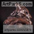 Bronze Cats sculpture by sculptor Matt Withington titled: 'Killing Time (Bronze Resting Tiger Head Bust sculpture for sale)' - Artwork View 3